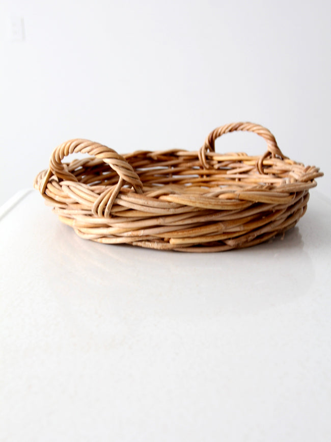 vintage woven basket tray