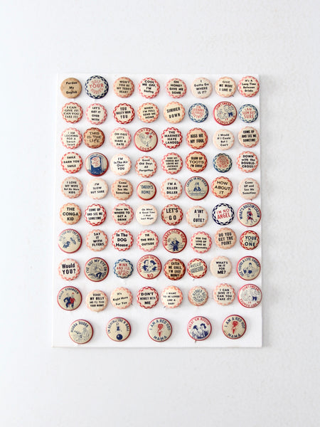 vintage pinback button collection