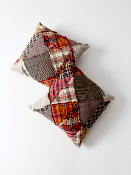 vintage patchwork decorative pillows