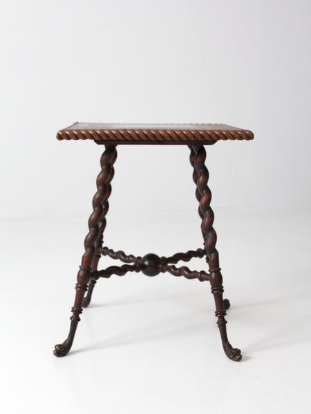 antique barley twist leg end table