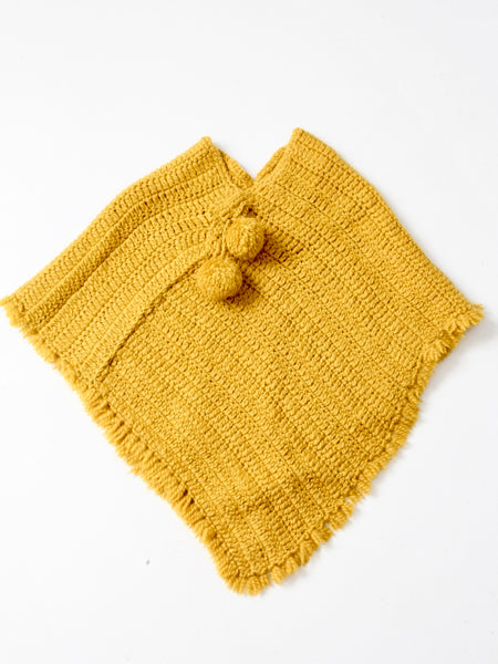 vintage 60s hand-knit poncho
