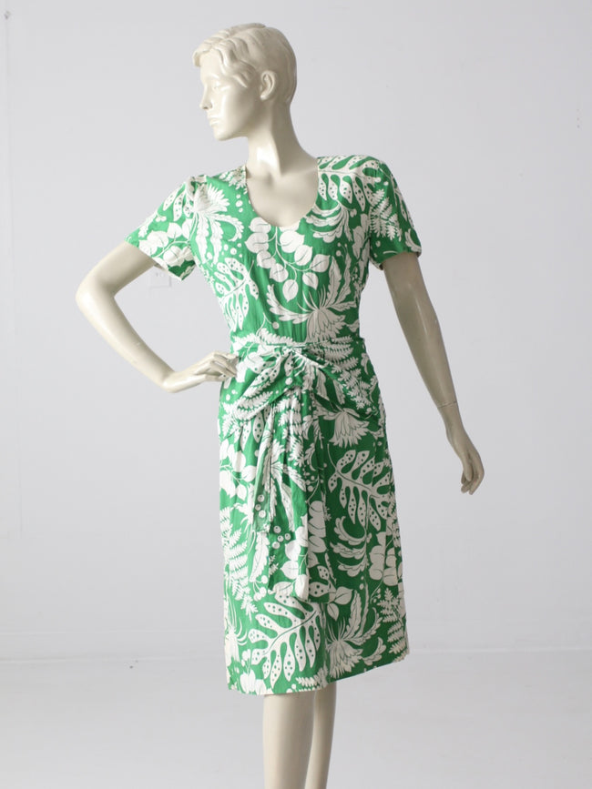vintage 60s tropical sundress
