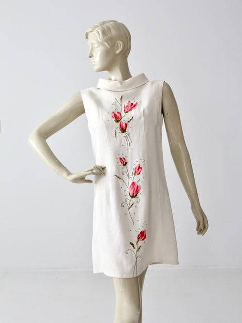vintage linen shift dress