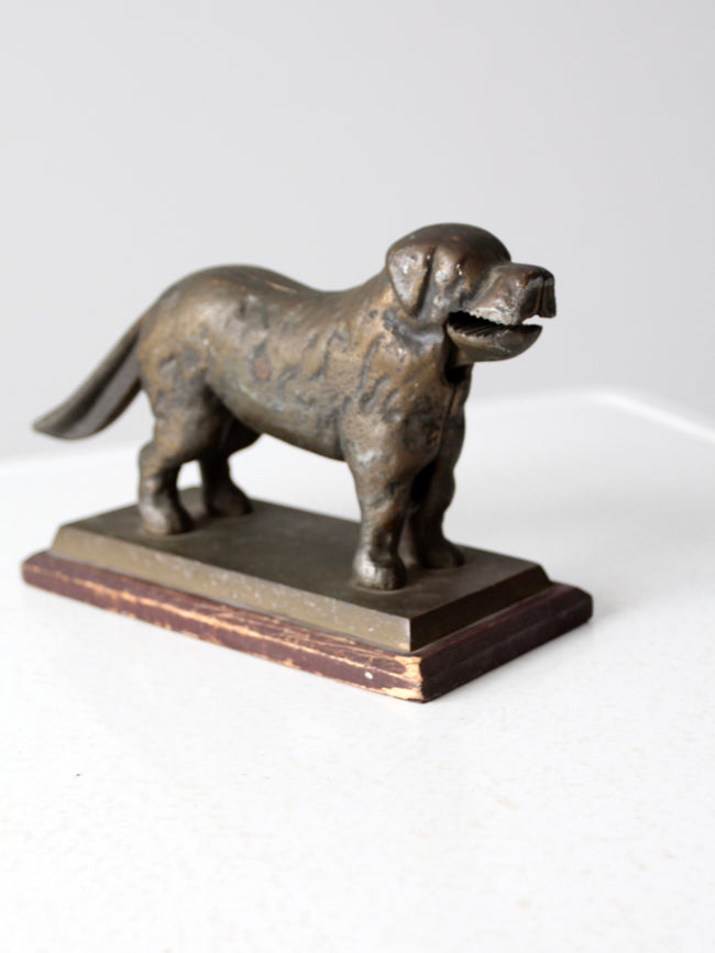 antique brass dog nutcracker