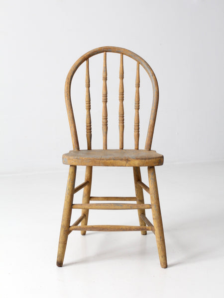 antique ladder back chairs - set of 4
