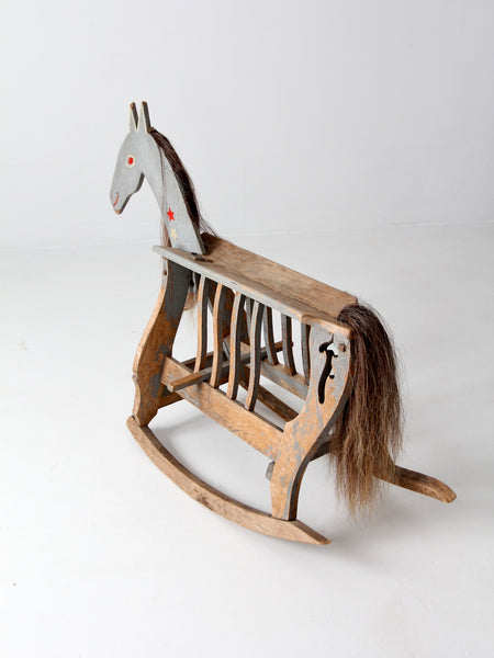 antique toy rocking horse