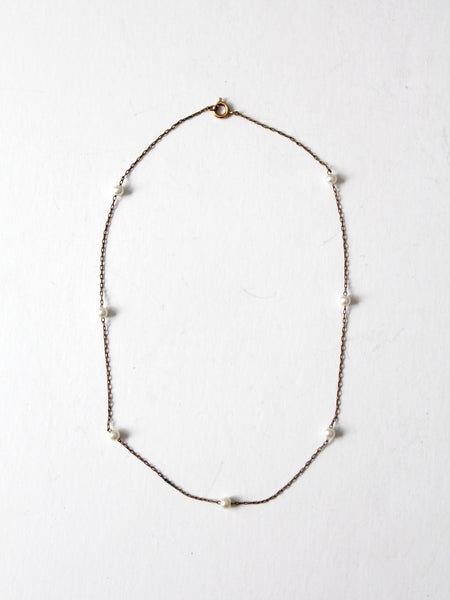 vintage linked hoop necklace