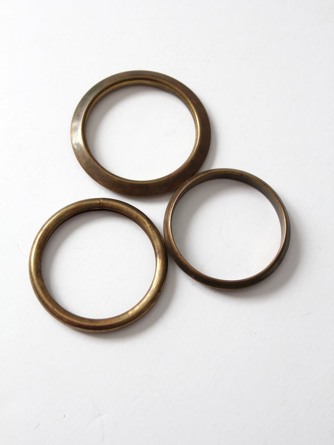 vintage stacking brass bangles