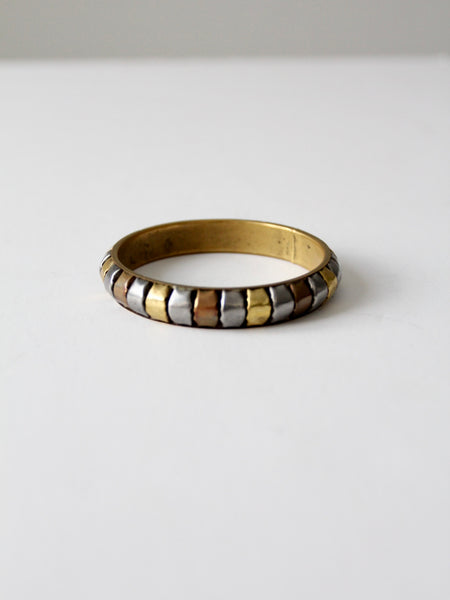 vintage mixed metal bangle
