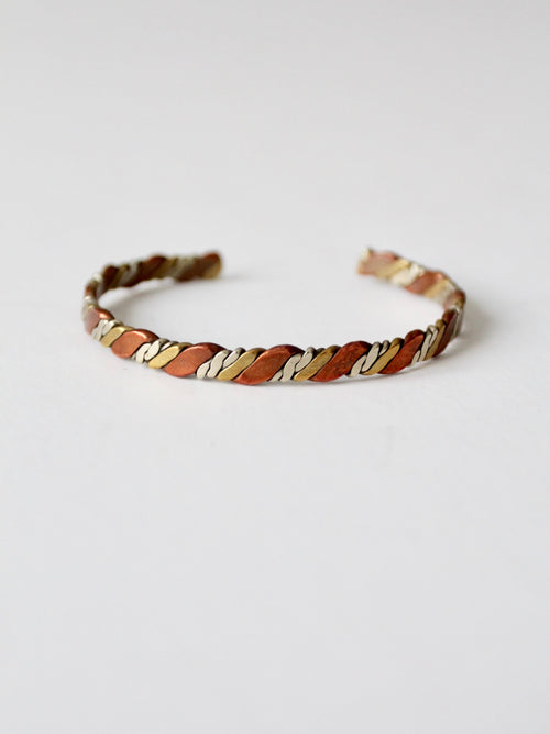vintage Mexican mixed metal bracelet