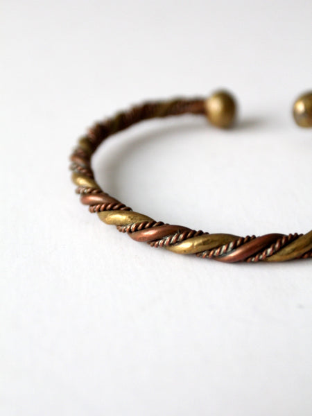 vintage copper and brass cuff