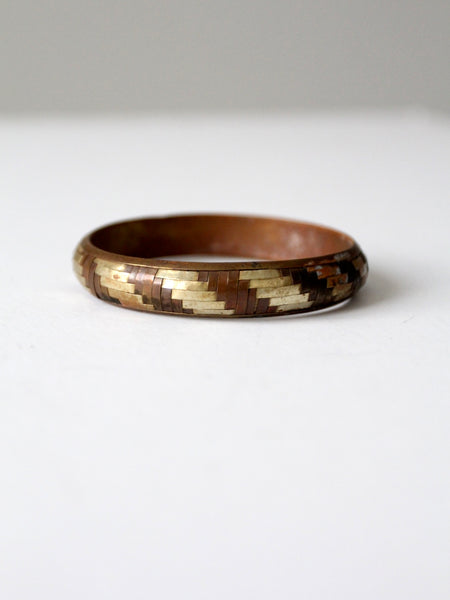 vintage hammered brass bangle