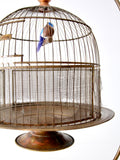 antique Hendryx birdcage with stand