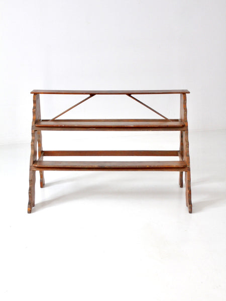 vintage tiered wooden plant stand