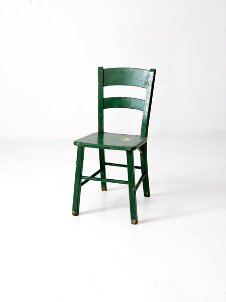 vintage painted wood accent chair