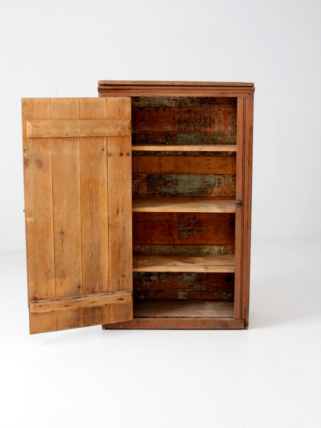 antique beadboard cabinet