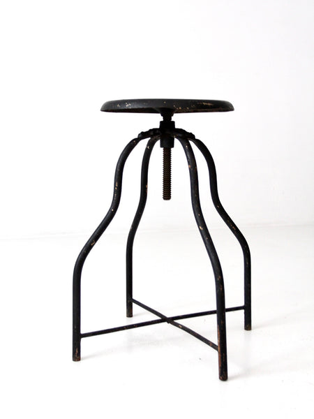 vintage adjustable industrial stool