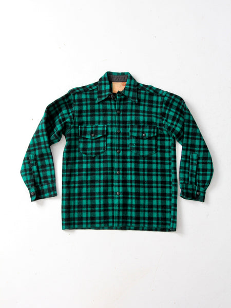 vintage 50s GWG wool plaid shirt