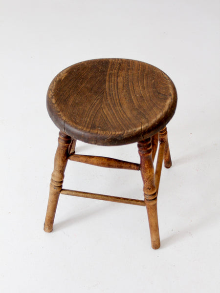 antique saddle seat stool