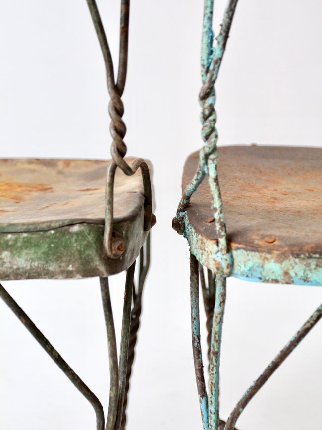 antique metal garden chairs