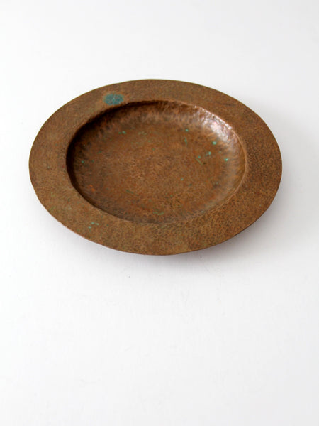 antique hammered copper bowl