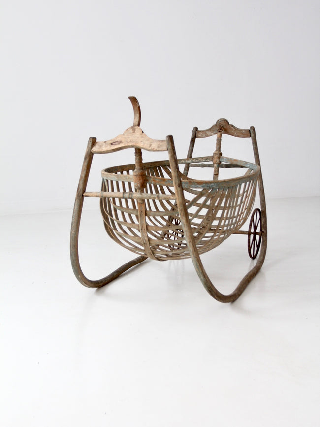 antique field cradle