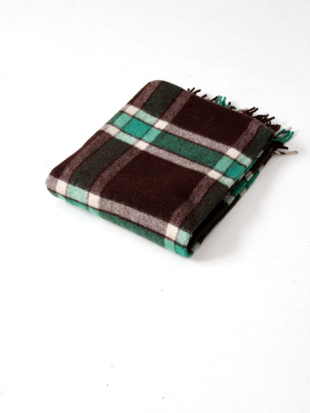vintage plaid wool blanket