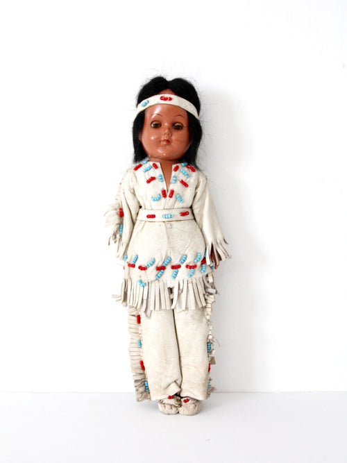 vintage 50s Native American doll
