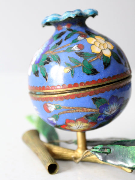 antique cloisonne sculptural box