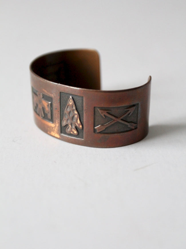 vintage Mexican copper cuff