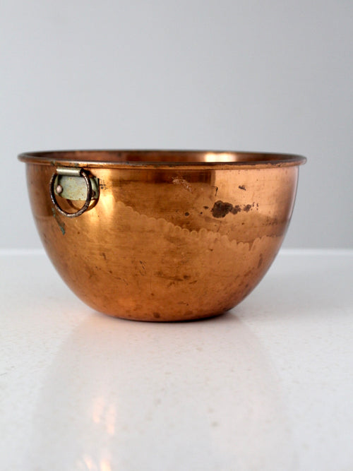 vintage copper kitchen bowl