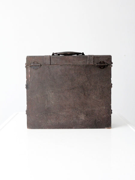 vintage divided leather tote