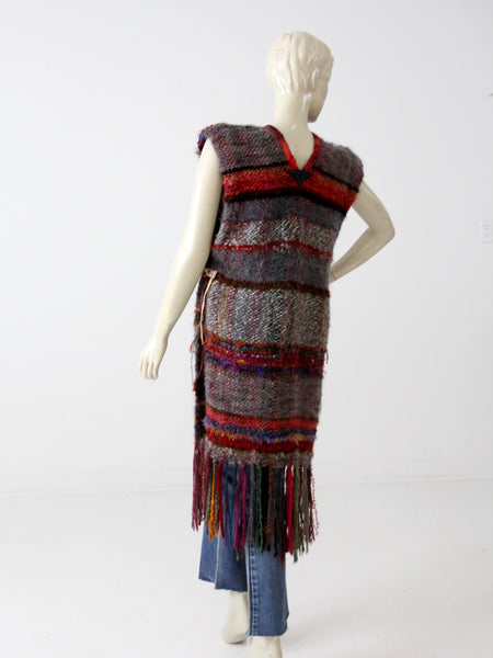 vintage hand knit tunic dress