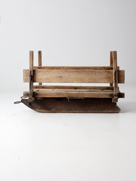 antique primitive farm sled