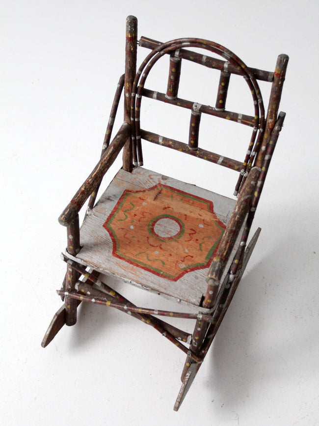 antique folk art children's chair