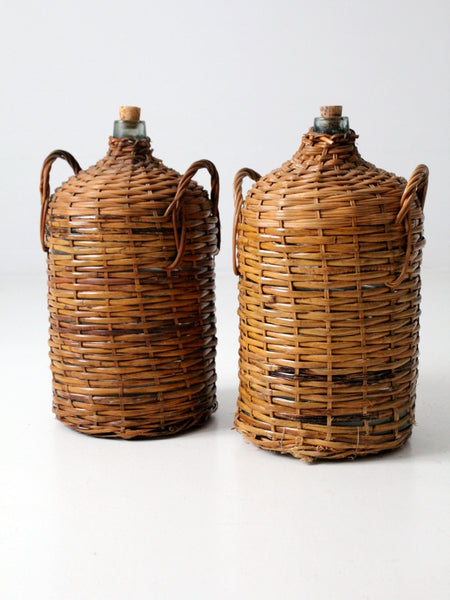 antique demijohn pair