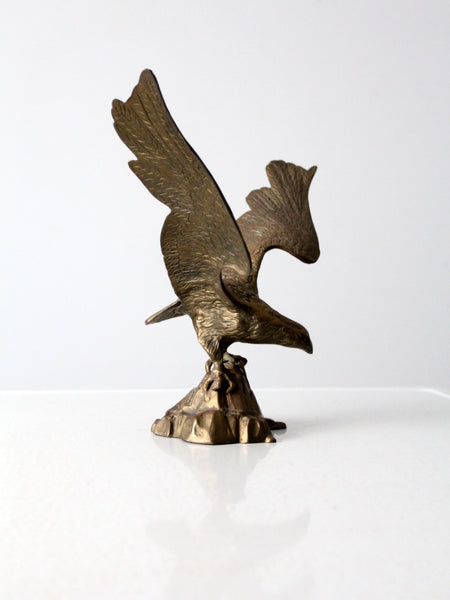 vintage brass American eagle statue