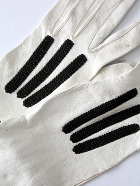vintage leather driving gloves