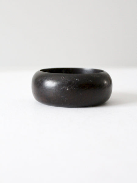 vintage chunky wood bangle