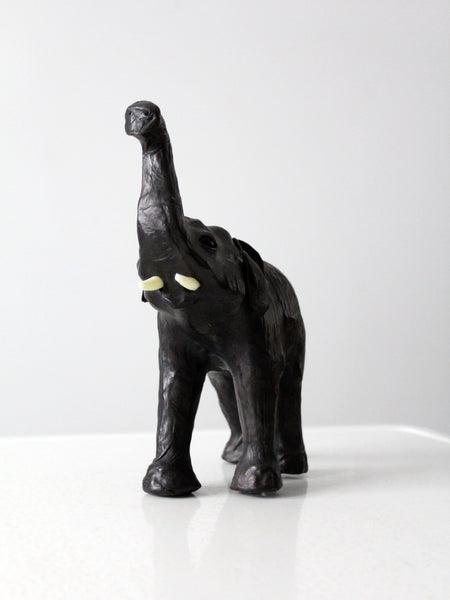 vintage leather elephant model