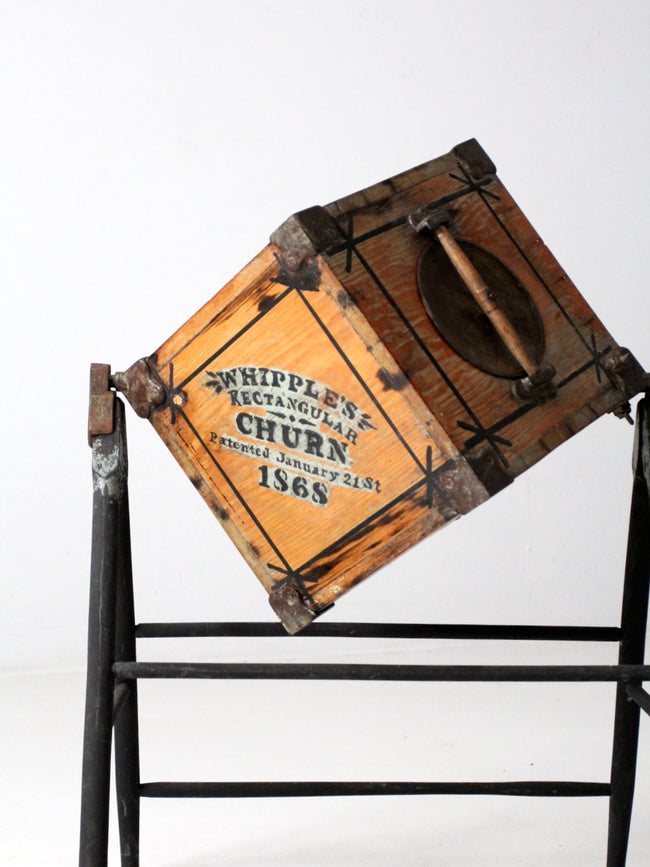 Whipple's Rectangular Churn circa 1868