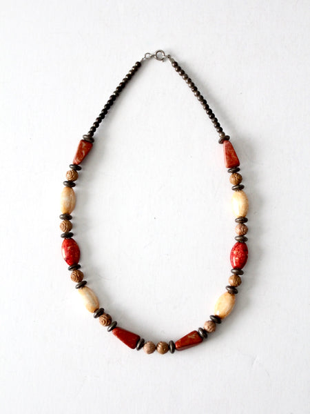 vintage boho beaded necklace