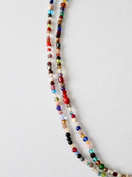 vintage beaded strand necklaces pair