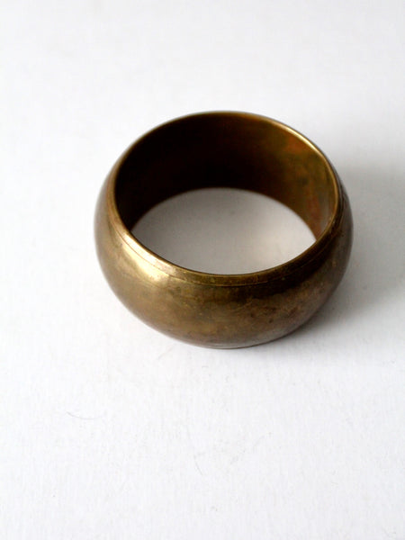 vintage chunky hammered brass bangle