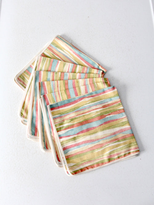 mid-century napkins set of 6