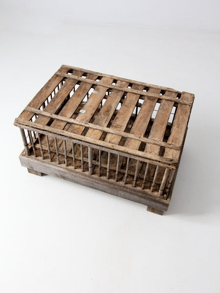 primitive farm cage trunk