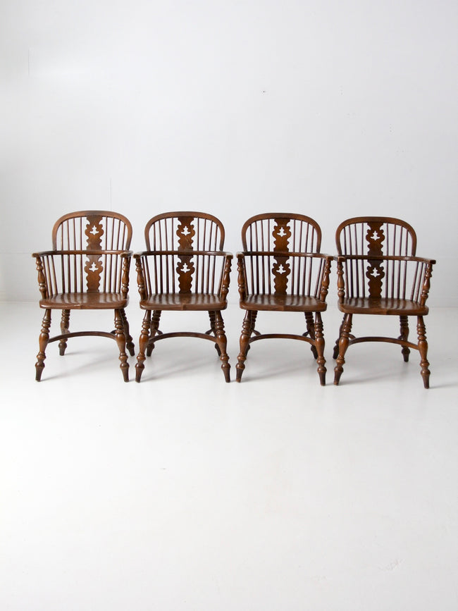 vintage Conant Ball Colonial Revival dining chairs set
