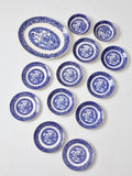 Homer Laughlin Blue Willow Ware set of 13