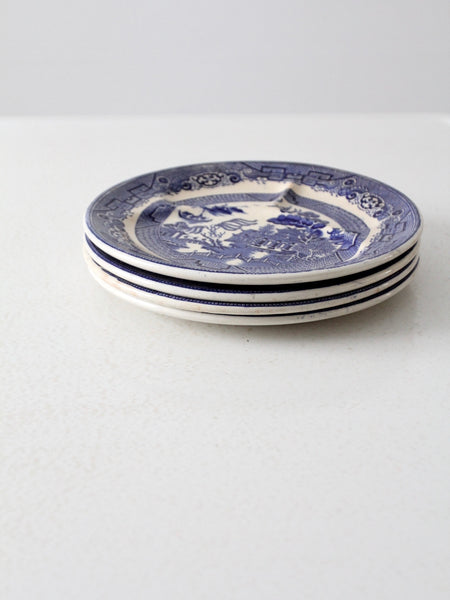 Allertons blue willow divider plates circa 1930