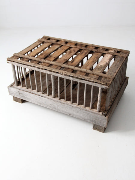 primitive farm crate coffee table